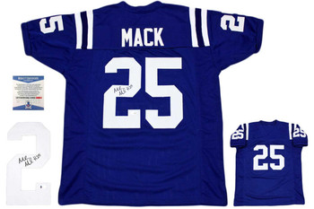 Marlon Mack Autographed Signed Jersey - Royal - Beckett Authentic