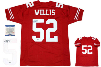 Patrick Willis Autographed Signed Jersey - Red- Beckett Authentic