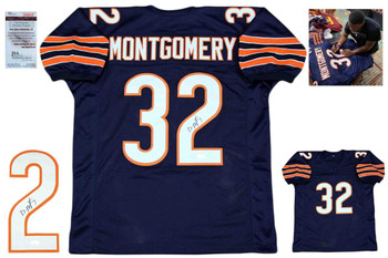 David Montgomery Autographed Signed Jersey - Navy