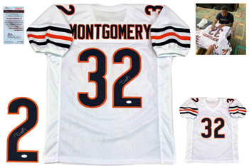 David Montgomery Autographed Signed Jersey - White