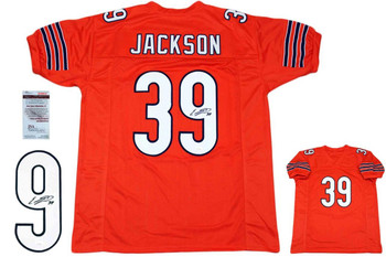 Eddie Jackson Autographed Signed Jersey - Orange