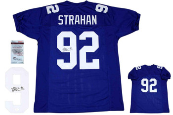 Michael Strahan Autographed Signed Jersey - Royal