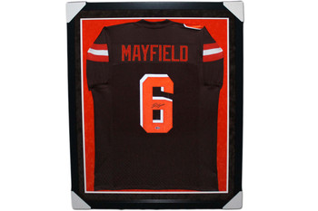 Baker Mayfield Autographed Signed Jersey - Framed