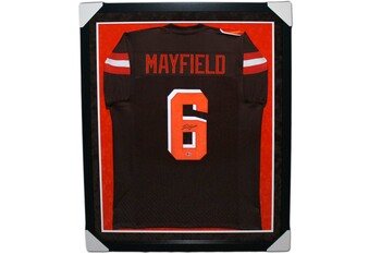 Baker Mayfield Autographed Signed Jersey - Framed