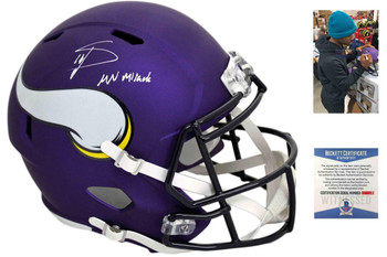 Vikings Stefon Diggs Autographed Signed Speed Helmet