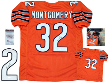 David Montgomery Autographed Signed Jersey - Orange