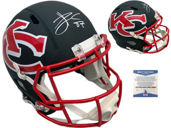 Chiefs Travis Kelce Autographed Signed Full Size Speed Helmet - AMP