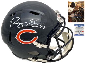 Chicago Bears Roquan Smith Autographed Signed Speed Rep Helmet