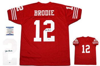 John Brodie Autographed Signed Jersey