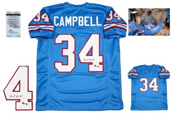 Earl Campbell Autographed Signed Jersey