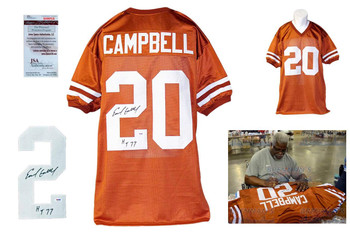 Earl Campbell Autographed Signed Jersey - Burnt Orange