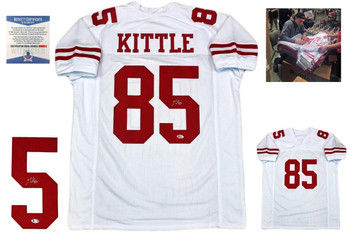 George Kittle Autographed Jersey - Beckett Authentic - White
