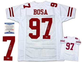 Nick Bosa Autographed Signed Jersey - White - Beckett Authentic
