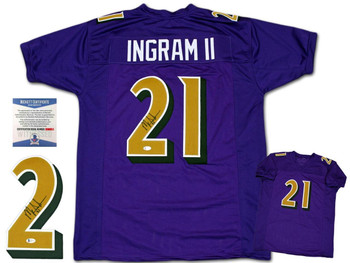 Mark Ingram Autographed Signed Jersey - Purple