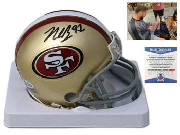 San Francisco 49ers Nick Bosa Autographed Signed Mini Helmet