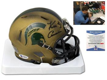 Spartans Kirk Cousins Autographed Signed Mini Helmet