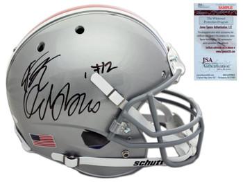 Ohio State Buckeyes JK Dobbins Autographed Signed Helmet - Full Size Silver