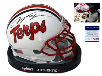 Maryland Terrapins Vernon Davis Autographed Signed Mini Helmet