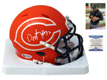 Chicago Bears David Montgomery Autographed Signed AMP Mini Helmet