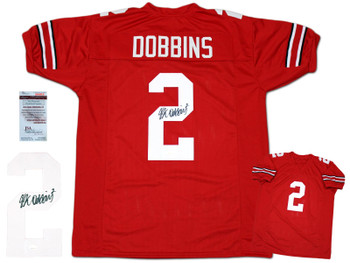 JK Dobbins Autographed Signed Jersey - Red