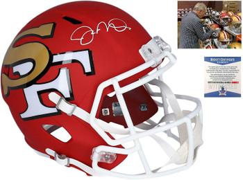 49ers Joe Montana Autographed Signed AMP Replica Helmet