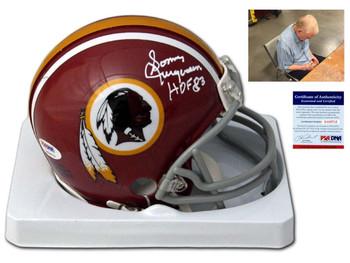 Redskins Sonny Jurgensen Autographed Signed Mini Helmet
