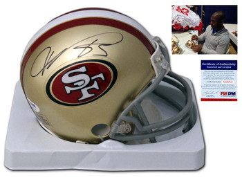 San Francisco 49ers Vernon Davis Autographed Signed Mini Helmet