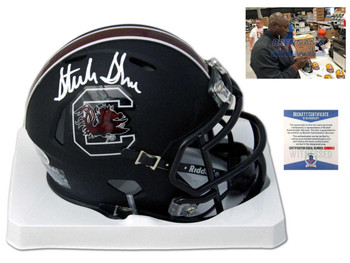 Gamecocks Sterling Sharpe Autographed Signed Mini Helmet - Blk