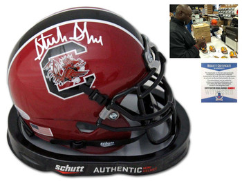 Gamecocks Sterling Sharpe Autographed Signed Mini Helmet - Red