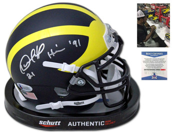 Wolverines Desmond Howard Autographed Signed Mini Helmet - Heisman