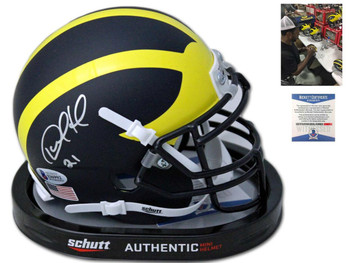 Wolverines Desmond Howard Autographed Signed Mini Helmet