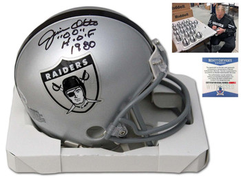Oakland Raiders Jim Otto Autographed Signed Mini Helmet - TB