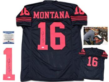 Joe Montana Autographed Signed Jersey - Black
