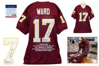 Charlie Ward Signed Jersey - PSA DNA - Florida State Autographed - STAT