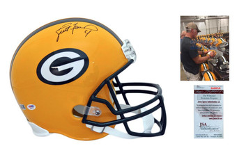 Brett Favre Autographed Signed Packers Proline Helmet - JSA Authentic