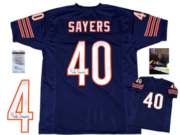 Gale Sayers Autographed Signed Jersey - Navy