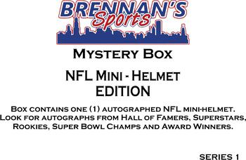 AUTOGRAPHED FOOTBALL MINI-HELMET MYSTERY BOX - SERIES 1