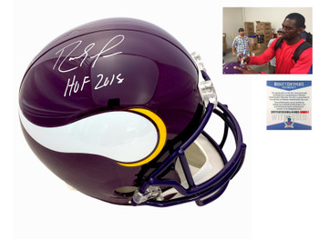 Vikings Randy Moss Autographed Signed Helmet - HOF
