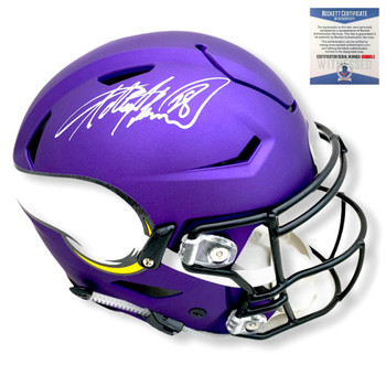 Vikings Adrian Peterson Autographed Signed Speed Flex Helmet