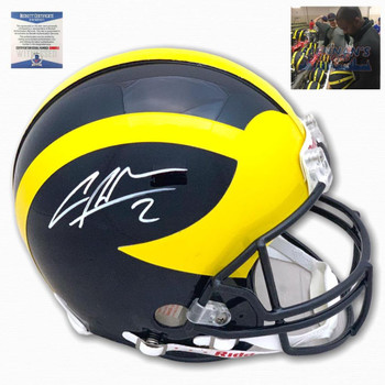 Michigan Charles Woodson Autographed Signed Authentic Helmet