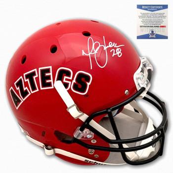 Aztecs Marshall Faulk Autographed Signed Helmet