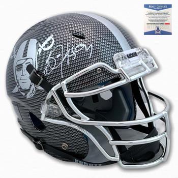 Raiders Bo Jackson Autographed Signed Hydro Dipped Helmet