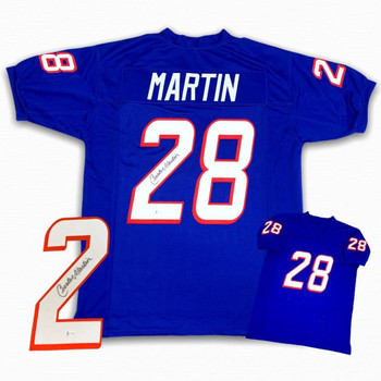 Curtis Martin Autographed Signed Jersey - Royal
