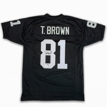 Tim Brown Autographed Signed Jersey - Black - Beckett Authentic