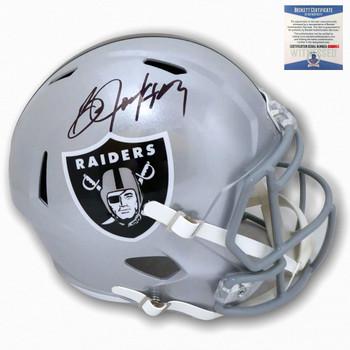 Raiders Bo Jackson Autographed Signed Speed Rep Helmet