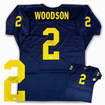 Charles Woodson Autographed Signed Jersey - Navy