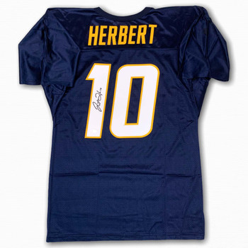 Justin Herbert Autographed Signed Jersey - Navy - Beckett Authentic