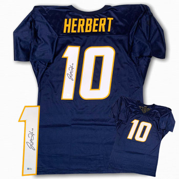 Justin Herbert Autographed Signed Jersey - Navy