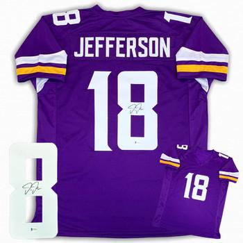 Justin Jefferson Autographed Signed Jersey - Purple