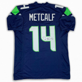 DK Metcalf Autographed Signed Jersey - Navy - Beckett Authentic